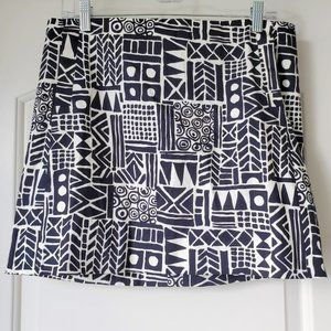 J Crew Tribal Print Sateen Mini Skirt 10